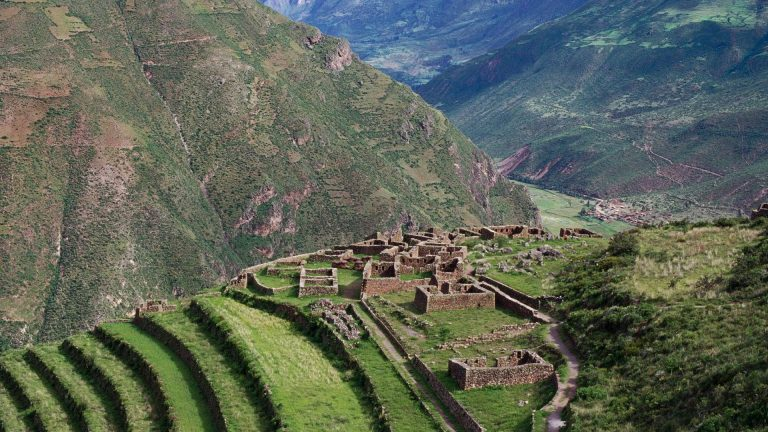 Inac Ruins Pisac Peru Inca Mountains Ancient Valley Phone Wallpapers